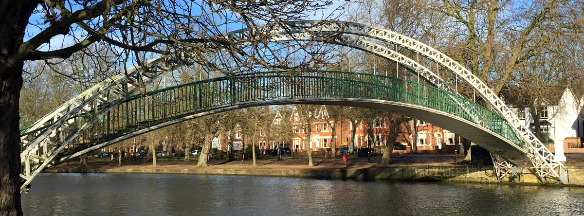 Bedford arched bridge